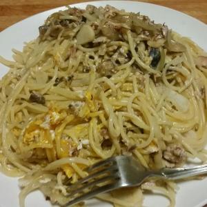 【今日の夕飯】さばカルボナーラ