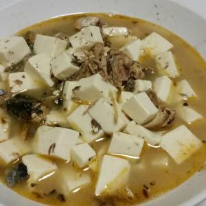 【今日の夕飯】さば水煮と豆腐の煮つけ その3