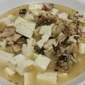 【今日の夕飯】さば水煮と豆腐の煮つけ その4 @ライドと筋トレ、HIITトレーニングなど
