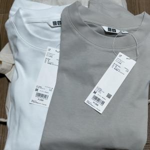 ユニクロのTシャツを比較 エアリズムオーバーサイズTシャツ クルーネックT スーピマコットンリラックスフィットクルーT