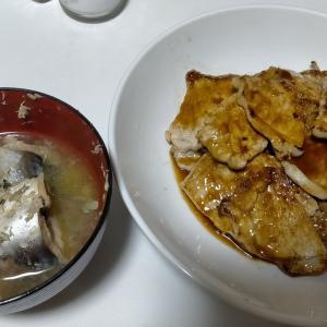 【今日の夕飯】豚ロース焼肉 その3 @さば缶