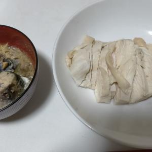 【今日の夕飯】サラダチキン その87 @さば缶