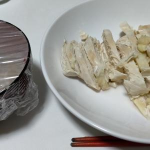 【今日の夕飯】サラダチキン その88 @さば缶 20kgケトルベルでアップライトロウ