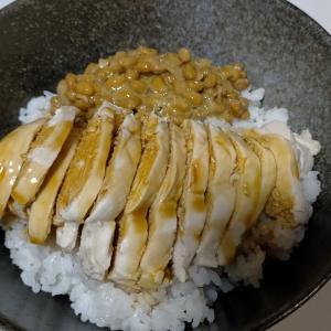 【今日の夕飯】鶏むね肉丼 その2 焼鳥のタレをかける