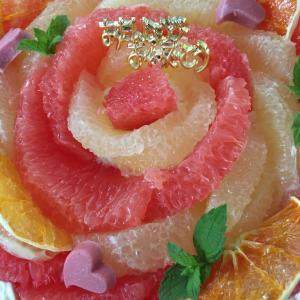 「ベルフィオーレ」のグレープフルーツケーキ