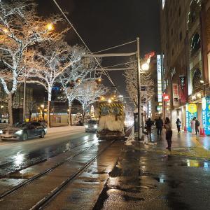 久々の雪ササラ電車