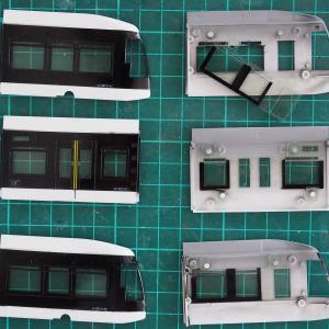 スタジオミドの札幌市電A1200形ポラリスを作る その4