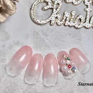 マオジェルクリスマスネイルbells