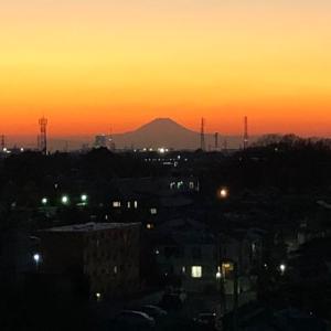 佐倉ネイルサロン スターネイル 佐倉から見える富士山