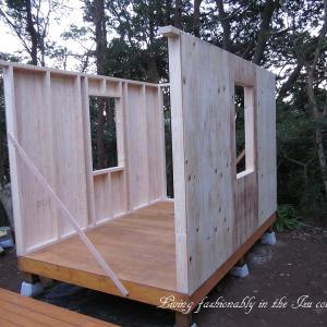 『おばさん小屋を作る』 壁作り その5