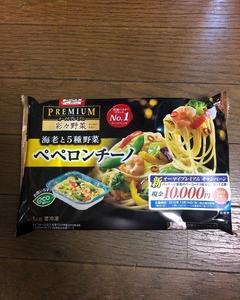 オーマイプレミアム【海老と5種野菜 ペペロンチーノ】を食べてみました。