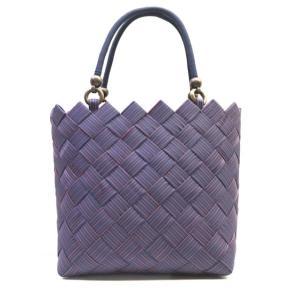 網代編みのバッグ