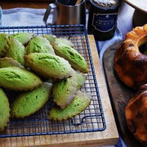 【通信講座】1月焼き菓子 応用Ⅱ「マーブルチョコクグロフ&抹茶ホワイトチョコブラウニー」講座。発送しました。