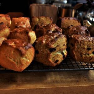 【通信講座】9月焼き菓子 応用Ⅲ「バターミルクスコーン&紅茶クランベリースコーン」講座。発送しました。