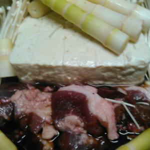 早乙女流ジビエ料理「イノシシ肉のすき焼き風」