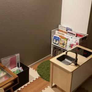 【模様替え】こどもキッチンも動線を考えた配置に。