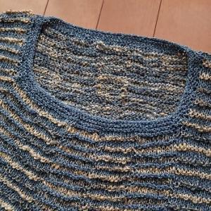 棒針編みの夏物完成です♪