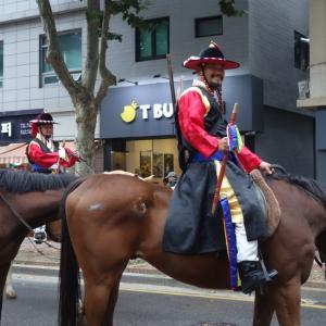 ドラマ「イ・サン」主人公、正祖王のパレードはソウル区間のみでした