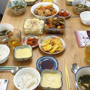 わが家で日本語のお勉強、と持ち寄りランチを