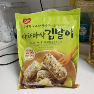 これにハマってます、韓国のりで作られた冷凍食品