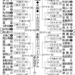 高校野球岡山大会 2日目の試合結果