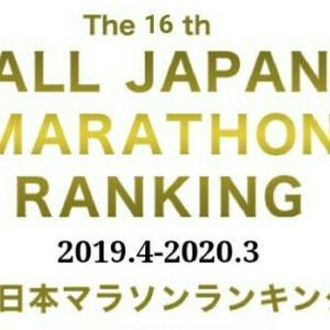 全日本マラソンランキングの結果