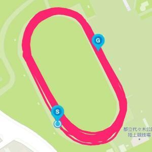 9月28日 インターバル1000m×6本(M×K練)、いい練習だけどやり過ぎは禁物だな
