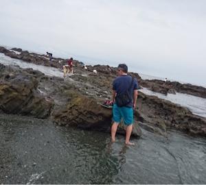 墓参りと海散歩