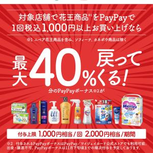 PayPay×花王のキャンペーンがお得すぎるΣ(゚Д゚)