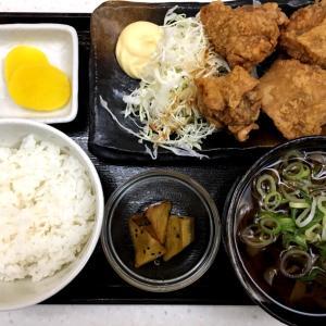 札幌市中央区『手打ちそば さくら 大通店』ひろちゃんの塩ザンギ定食にそばを付けて食べてみた!