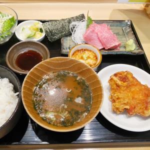 『寿司・中国料理福禄寿』店長が勧めたトロのお刺身定食はザンギ付き!トロトロロ~