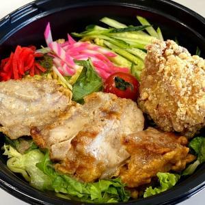 『あじ太郎 西線店』暑い日にはザンギ冷やし中華!アスパラロールかつも食べたよ!期間限定お早めに!