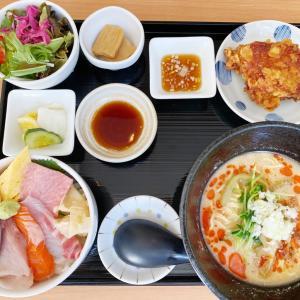 『寿司・中国料理福禄寿』ランチにハーフセットが登場!担々麺と海鮮丼のハーフ&ハーフがオススメ!
