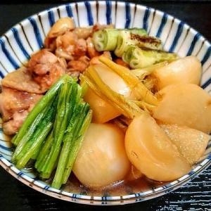 鶏とかぶの治部煮、ひじきと厚揚げの煮物