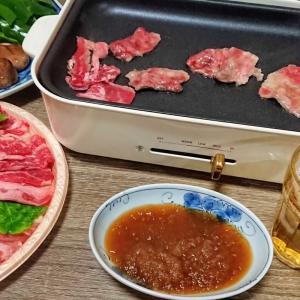 焼肉、冬瓜の煮物