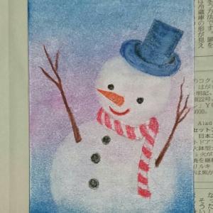 パステルアートでポストカード