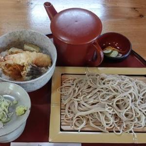 いわき市田人町「田人味おやじがんこそば」ミニ天丼セット|蕎麦の香りがいい