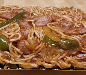 すたみな太郎 太麺濃厚ナポリタン 800グラム テイクアウト限定 1.6kg爆盛も