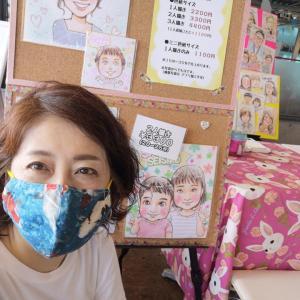 7月23日(金)「灘リアンマルシェ」似顔絵イベント出店してました。