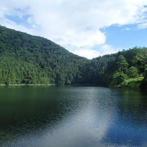 外来魚が棲む湖で泳ぐ外人たち