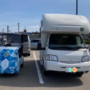 福井でまったり中(⑅•ᴗ•⑅)ヒミカで氷見の街を走り、アミティで千里浜を走りました〜!