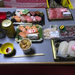 北陸を食べよう~旅( ๑>ω•́ )ﻭ寺泊で買った半額のお刺身をつまんでアミティで飲む!