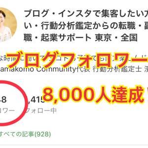 ブログフォロワー8,000人達成の秘訣とは!