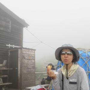 空木岳 - 遠い山頂と邂逅の花畑、そしてウリ坊  後半(2020年8月9日)