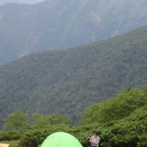 常念岳・蝶ヶ岳 - 壊れたテントの続きから  1日目 (2020年08月21日)