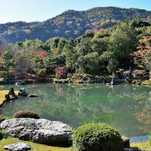 嵯峨嵐山「天龍寺」水鏡に映る庭園を求めて