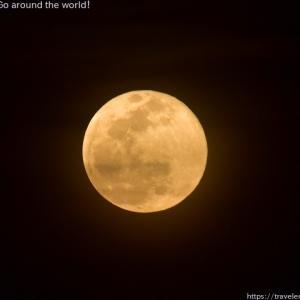 2021年4月27日の満月、ピンクムーン撮影