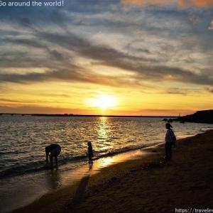 瀬長島の夕陽