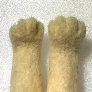 リアルくーちゃん 指を作る