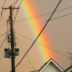 虹がすごかった!